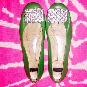 Kate Spade Rhinestone Encrusted Ballet Flats